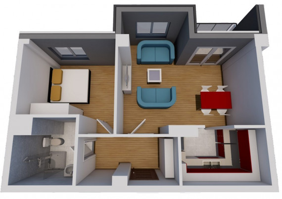 Jednosoban stan (45.80 m2)