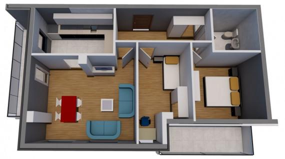 Dvosoban stan (69.71 m2)